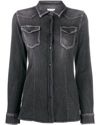 Dondup デニムシャツ - ブラック