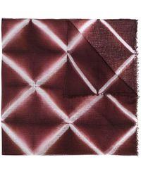 Suzusan Geometric Pattern Scarf - Red