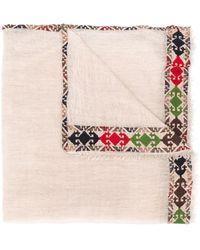 Faliero Sarti Embroidered Hem Scarf - Multicolour