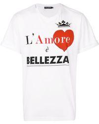 Dolce & Gabbana | L'amore È Bellezza T-shirt | Lyst