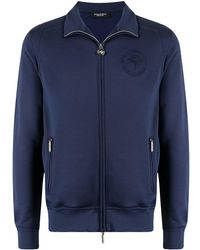 Stefano Ricci Embroidered-chest Bomber Jacket - Blue