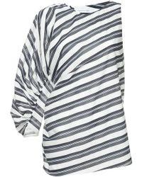 Christopher Esber - One Sleeve Striped Blouse - Lyst