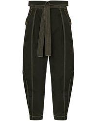 Ulla Johnson Rowen Tie Waist Trousers - Green