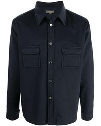 N.Peal Cashmere Button-up Cashmere Shirt Jacket - Blue