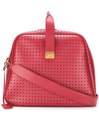 Marco De Vincenzo Bimbum Oversized Perforated Holdhall - Red
