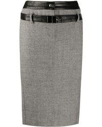 Dior Юбка-карандаш 1997-го Года Pre-owned - Серый