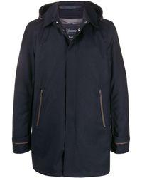 Herno Manteau à capuche repliable - Bleu
