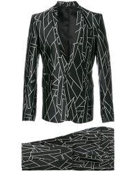 Les Hommes - Printed Two Piece Suit - Lyst