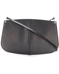Louis Vuitton Top Handle Leather Handbag - Black