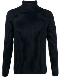 C.P. Company ロゴパッチ セーター - ブルー