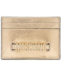 Moschino Porte-cartes à plaque logo - Métallisé