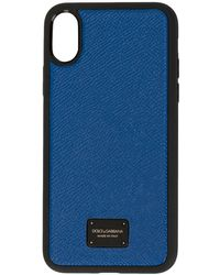 Dolce & Gabbana IPhone X-Hülle mit Logo - Blau