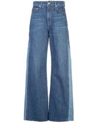 Reformation Delia Wide Leg Jeans - Blue