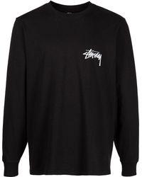 Stussy T-shirt à logo imprimé - Noir
