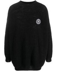 Raf Simons ロゴパッチ セーター - ブラック