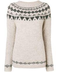 Woolrich - Geometric Knit Sweater - Lyst