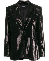 P.A.R.O.S.H. Black Polyester Blazer
