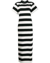 Alexander Wang ブラック And ホワイト ストライプ Chynatown ドレス