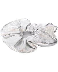 Manokhi Silver-tone Scrunchie - Metallic