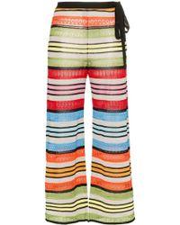 Mary Katrantzou Rego Stripe Wide Leg Pants - Green