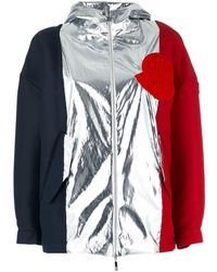 Moncler Gamme Rouge Tri Colour Jacket - Black