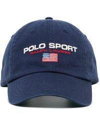 Polo Ralph Lauren Honkbalpet Met Geborduurd Logo - Blauw