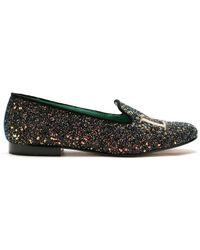 Blue Bird Shoes Лоферы Love С Блестками - Зеленый