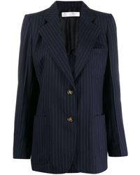 Victoria Beckham Bowie ストライプ ジャケット - ブルー