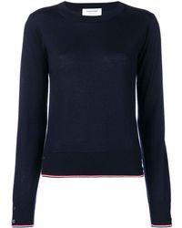 Thom Browne Rwb Tipping Cashmere Pullover - ブルー