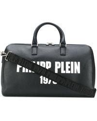 Philipp Plein Sac de voyage à logo imprimé - Noir