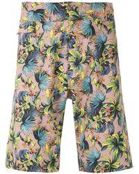 Amir Slama Shorts Met Print - Meerkleurig