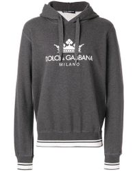 Dolce & Gabbana - Printed Cotton Hooded - Lyst