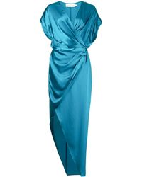Michelle Mason シルク ラップドレス - ブルー