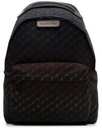 Stella McCartney - Black Falabella Rainbow Logo Backpack - Lyst