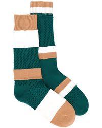 Sacai ストライプ 靴下 - グリーン
