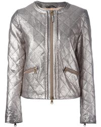 Eleventy - Metallic (grey) Quilted Jacket - Lyst