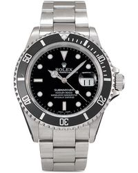 Rolex - Montre Submariner Date 40 mm pre-owned (2000) - Lyst
