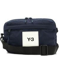 Y-3 メッセンジャーバッグ - ブルー
