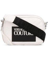 Versace Jeans Logo Patch Cross-body Bag - White