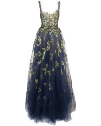 Oscar de la Renta - Botanical Branch Embroidered Tulle Gown - Lyst