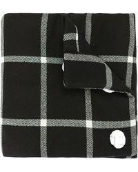 Raf Simons チェック スカーフ - ブラック