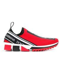 Dolce & Gabbana - Sneakers senza lacci con stampa - Lyst
