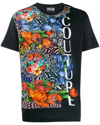 Versace Jeans - Optical Flowers プリント Tシャツ - Lyst