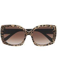 Dolce & Gabbana スクエアフレーム サングラス - マルチカラー