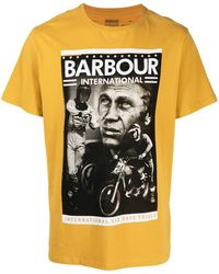 Barbour プリント Tシャツ - イエロー