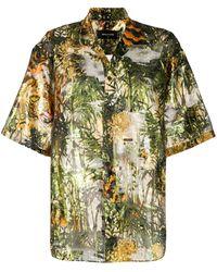 DSquared² Printed Bowling Shirt - Green