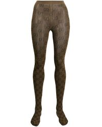Gucci Strumpfhose mit GG-Muster - Braun