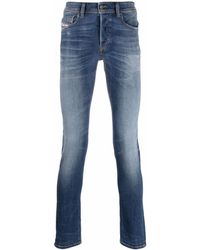 DIESEL Skinny-cut Sleeker Jeans - Blue