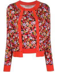 Twin Set Layered Floral-print Cardigan
