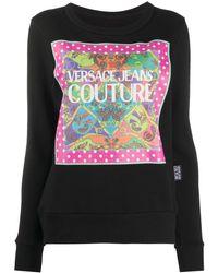 Versace Jeans Couture Paisley Fantasy スウェットシャツ - ブラック